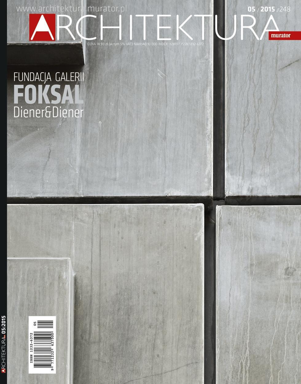 """""""Architektura-murator"""" nr 5/2015 z nagrodą Grand Front"""